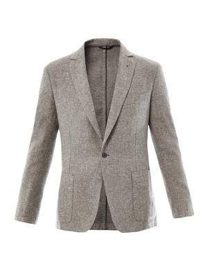 Bouclé two-button blazer