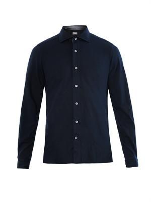 Swiss piqué stretch-cotton shirt