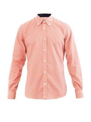 Wheel-print cotton shirt