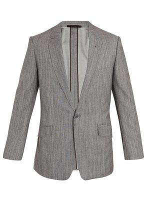 Wool-silk suit jacket