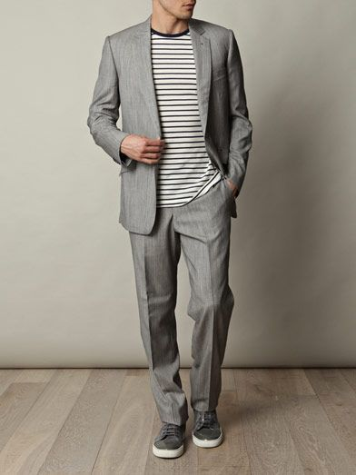 Rake Wool-silk suit jacket