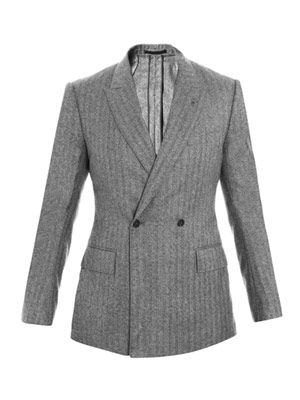 Herringbone double-breasted jacket