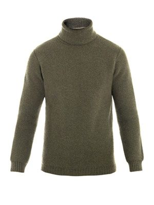 Cashmere roll-neck jumper