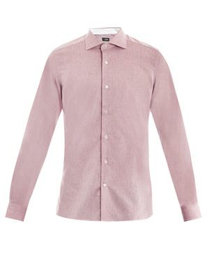 Oxford cut-away collar shirt