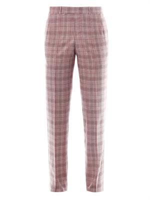 Check-print tailored trousers