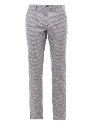 Wheel-print cotton trousers