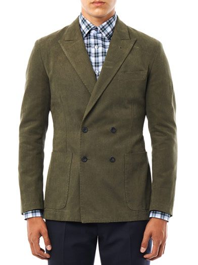 Rake Double-breasted cotton jacket