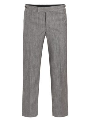 Wool-silk trousers
