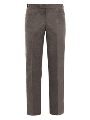 Super 100 wool trousers