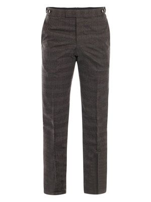 Prince of Wales straight pocket trousers