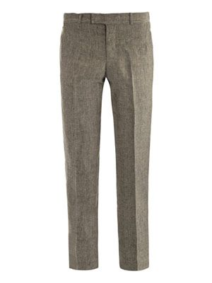 Glen plaid trousers