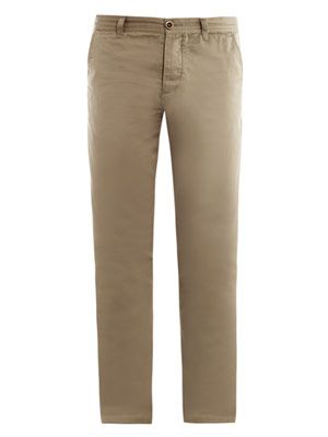 Selvedge cotton chino trousers