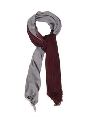 Dip-dye cashmere and silk-blend scarf