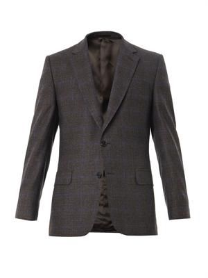 Prince of Wales-check wool blazer