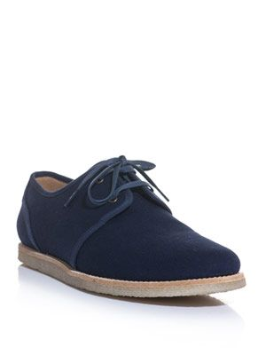 Derby canvas contrast sole shoes