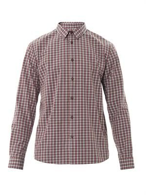 Retro check cotton shirt