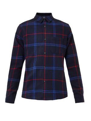 Hunter tartan-plaid flannel shirt