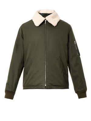 Hunter shearling-collar bomber jacket