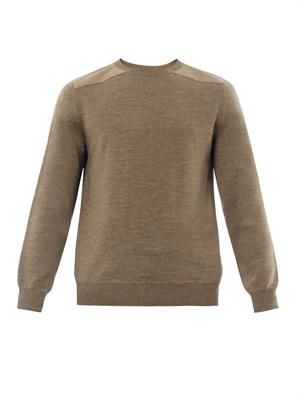 Army wool knit sweater