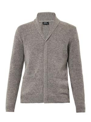 Ivy shawl-collar wool cardigan