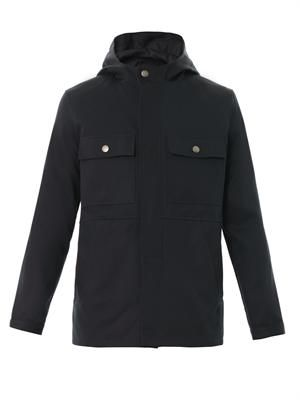 Hooded four-pocket parka