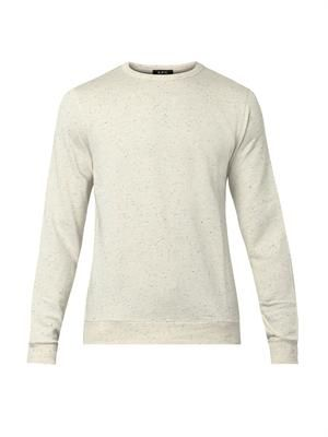 Flecked cotton-blend sweatshirt