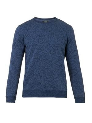 Floral-print cotton-blend sweatshirt