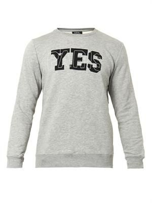 Yes Paris cotton-blend sweatshirt
