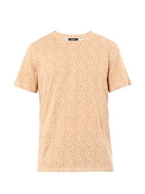 Safari-print cotton T-shirt