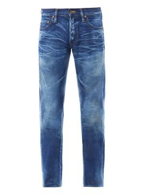 Rambler distressed straight-leg jeans