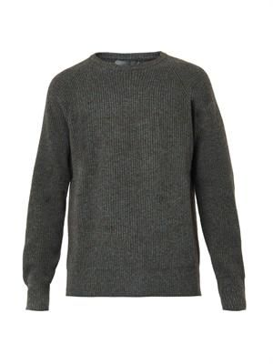 Ribbed-knit wool and yak-blend sweater