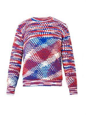 Melange-knit sweater