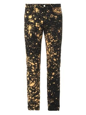 Hand-bleached skinny jeans