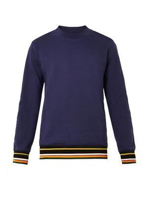 Striped hem and cuff sweatshirt