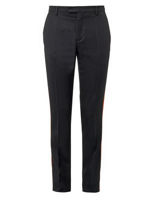 Contrast-stripe tailored trousers