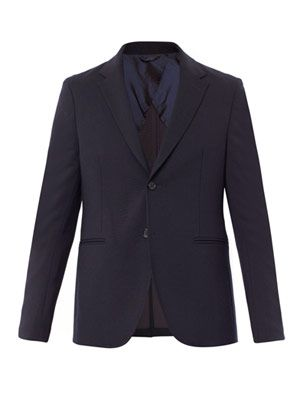 Unlined single-breasted blazer