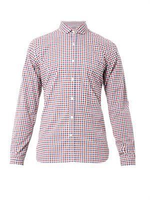Eton-collar checked shirt