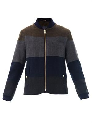 Lambeth paneled wool jacket