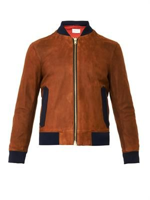 Bermondsey suede bomber jacket