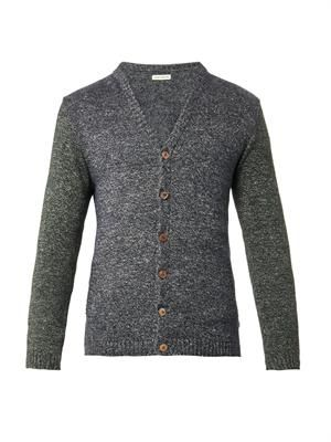 Kolino contrast-sleeve cardigan