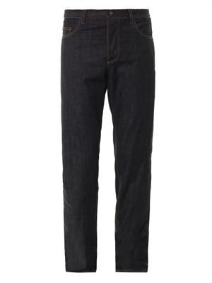Tapered straight-leg jeans