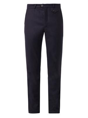 Fishtail cotton trousers