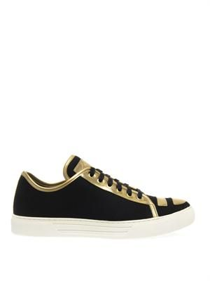 Kent metallic leather trainers