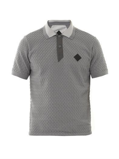 Moncler W Weave polo shirt