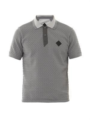 Weave polo shirt