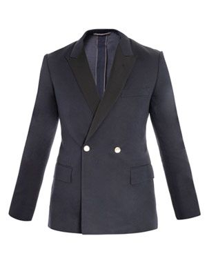 Unstructured grosgrain trimmed jacket