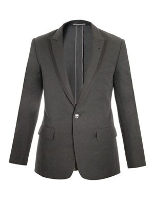 Unstructured satin-trimmed jacket