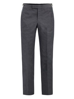 Cotton-canvas tailored trousers