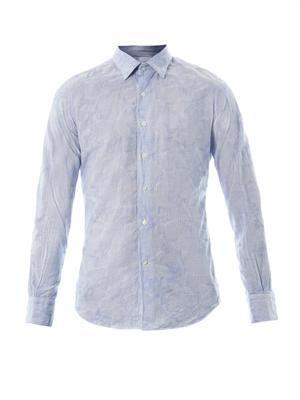 Kurt floral and striped-print shirt