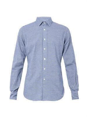 Kurt micro-check shirt